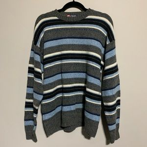 Chaps Blue & Gray Sweater, Medium
